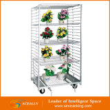 Warehouse를 위한 회전 Folding Adjustable Flower Cart Transportation Trolley