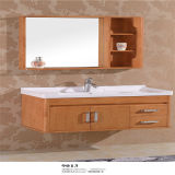 Highquality fissato al muro Wooden Bathroom Vanity con Side Cabinet
