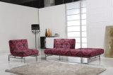 Sofá flexible de la tela del estilo simple fijado para la pequeña sala de estar de la unidad (VV954)