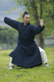 비스듬한 고리 자연적인 리넨 겉옷 Taoism 의류를 두껍게 하는 가을과 겨울