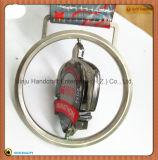 タートル銀製3D回転浜のマラソンメダル(JINJU16-046)