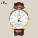 最上質の本革のカップルの恋人の腕時計70015