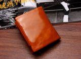 De Vierkante Portefeuilles van Unisexs van het Leer van de Zweep van de Was van de olie