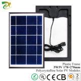 OEM per il poli comitato solare 5W con il blocco per grafici di plastica