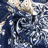 Form-Herbst-langer Polyester-Voile-Frauen-Blau-Schal