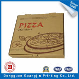 Caja de pizza plegable de papel corrugado marrón Kraft