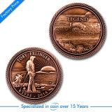 O OEM EUA imprimiu/lembrança/moeda velha do desafio/forças armadas/concessão