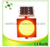 Indicatore luminoso solare di sicurezza stradale dell'indicatore luminoso d'avvertimento LED di traffico dello stroboscopio