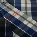 Baumwollpopelin-gesponnenes Garn gefärbtes Gewebe 100% für Hemden/Kleid Rls40-4po