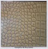 Krokodil geprägtes Belüftung-synthetisches Leder für Handbeutel, Sofa, Furniturea