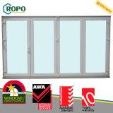 Portelli di vetro Bifold di plastica dell'isolamento termico UPVC/PVC per le case