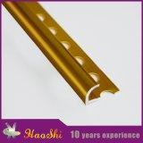 Testo fisso dorato delle mattonelle della lega di alluminio dell'espulsione di colore