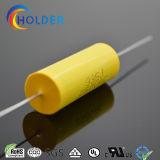 Cbb20 335j 250VAC polipropileno metalizado Capacitor de película com fio de cobre para Running Axial Yellow Todos Cbb20 Series