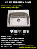 Dispersore, dispersore di cucina, dispersore superiore del supporto, Sink6456A Handmade