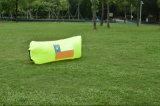 Saco de ar inflável portátil da compressão do sono da tela da tela do poliéster do Lounger