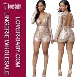 Moda Sequin Dress and Jumpsuit Ladies Clothes Sets (L55206-1)