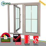 UPVC/PVC moderner Hurrikan-Auswirkung-Flügelfenster-Fenster-Gitter-Plastikentwurf