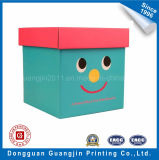 Коробка бумажного подарка красного цвета напечатанная упаковывая с тесемкой
