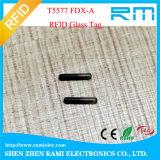動物の追跡のための熱い134.2 kHz Lf RFID Hdxのガラス札
