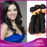 Человеческие волосы 100% верхнего качества девственницы оживлённые курчавые