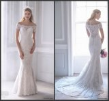 Breve Sleeves Bridal Gowns fuori da Shoulder Lace Wedding Dress S201754