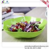 Plat rond en plastique multicolore de fruit