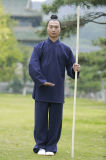 道教高級な長袖パフォーマンスWudang Taiのキーの厚いリネン衣類
