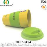 Kundenspezifischer umweltfreundlicher Bambusfaser-Kaffeetasse-Arbeitsweg-Becher (HDP-0424)