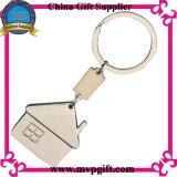 家のロゴの金属Keychain