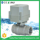 Válvula de control motorizada eléctrica de bola del agua del acero inoxidable de Dn20 AC230V NSF61