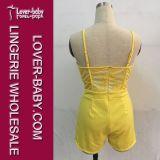 Sommer-Kleid-Overall-beiläufige Frau kleidet (L55199-3)