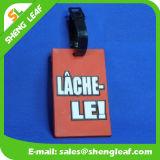熱い販売のカスタムロゴPVCゴム製荷物の札(SLF-LT037)