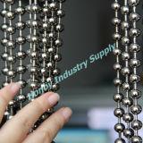 rideau s'arrêtant argenté brillant en talon en métal de 6mm