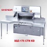 Doppelte hydraulische computergesteuerte Papierausschnitt-Maschine (SQZ-176CTN KD)