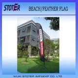 Bandeiras feitas sob encomenda da pena da praia da promoção