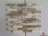 Stone marrone chiaro Marble Wall Mosaics per Indoor Decoration