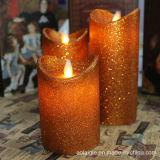 Moving свечки искусствоа фитиля свечки СИД воска мелькая