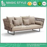 Sofà di tessitura del sofà del sofà di Morden del rattan del sofà del giardino del sofà della fasciatura del nastro esterno del sofà (stile magico)