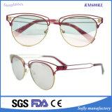 新しいデザインレディース方法円形の金属の排気切替器レンズのサングラス