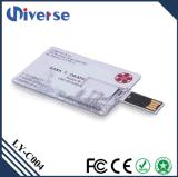 주문 공장 가격 선전용 최고 얇은 신용 카드 USB 섬광 드라이브