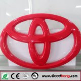 Logotipo inoxidável do carro de aço do laser 3D do costume com nomes para Toyota