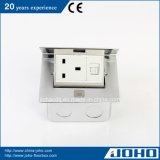 Single de alumínio Pop acima Floor Mount Socket 15A Outlet