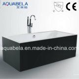 Banheira acrílica da cuba de Whirlpool&Jacuzzi dos mercadorias sanitários largos da borda (JL604)