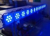 5en1 profesional RGBAW inalámbrica plana LED de escenario par ligero