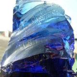 Vidro Cranule do azul de cobalto