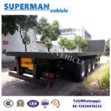 Drie As 13.5m Flatbed Semi Aanhangwagen van de Container voor Verkoop