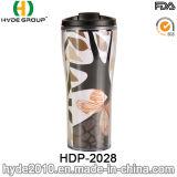挿入されたペーパー(HDP-2028)が付いている手持ち型の二重壁旅行コーヒー・マグ
