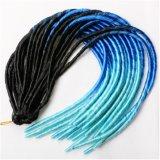 24 pollici della parrucca dell'Africa di terrore della serratura di pendenza della mano dello sfregamento della treccia di estensione morbida dei capelli