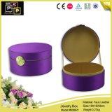 Caixa de armazenamento de creme de couro da jóia da cor do pomar