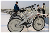 공중 자전거 백색 지적인 교정 공중 산악 자전거